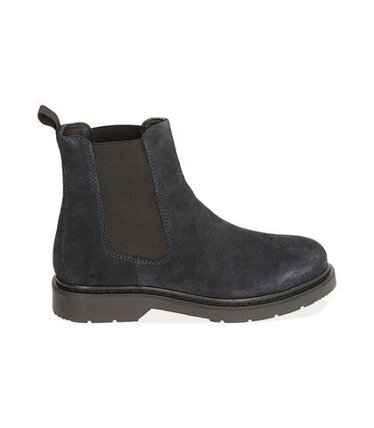 Chelsea boots blu in camoscio, Valerio 1966, 1877T6120CMBLUE039, 001