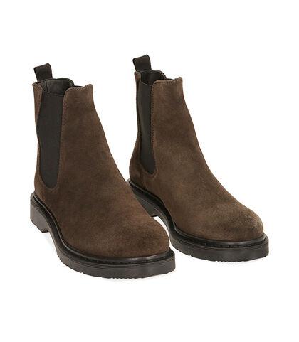 Chelsea boots testa di moro in camoscio, Valerio 1966, 1877T6120CMMORO039, 002