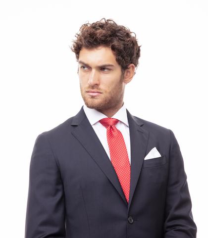 Cravatta rossa in seta , Accessori, 11I9T0008TSROSSUNI, 002