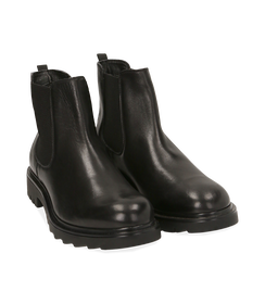 Chelsea boots neri in pelle, Valerio 1966, 1698T7409PENERO040, 002 preview