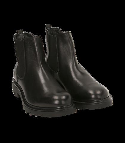 Chelsea boots neri in pelle, UOMO, 1698T7409PENERO039, 002