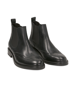 Chelsea boots neri in pelle di vitello, SALDI UOMO, 1677T0609VINERO039, 002 preview
