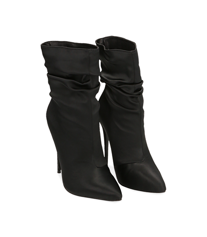 Ankle boots neri in raso , Valerio 1966, 1221T0052RSNERO035, 002