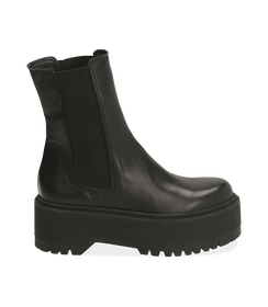 Chelsea boots platform neri in pelle di vitello , SALDI DONNA, 1689T8002VINERO040, 001 preview
