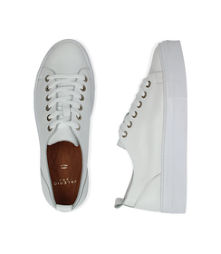 Sneakers bianco in pelle, Valerio 1966, 1577T0412PEBIAN036, 003 preview