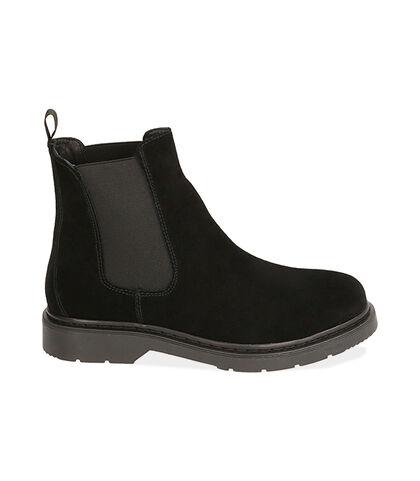 Chelsea boots neri in camoscio, Valerio 1966, 1877T6120CMNERO039, 001
