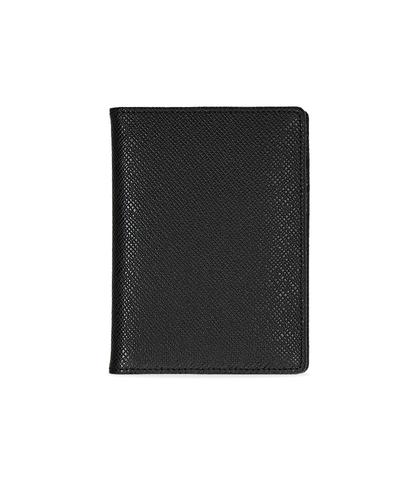 Portafoglio nero in pelle , Valerio 1966, 10A4T1701PENEROUNI, 001