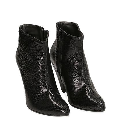 Ankle boots neri effetto pitone, Valerio 1966, 12A4T3141PTNERO035, 002