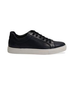 Sneakers blu in pelle con suola bianca, Scarpe, 1195T5735PEBLUE040, 001 preview
