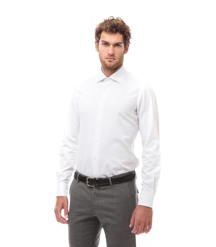 Camicia bianca in cotone, Abbigliamento, 13H9T8200TSBIAN39, 001