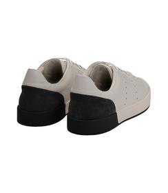 Sneakers bianche in pelle con tallone nero in camoscio, Scarpe, 1198T5841PEBINE040, 004 preview