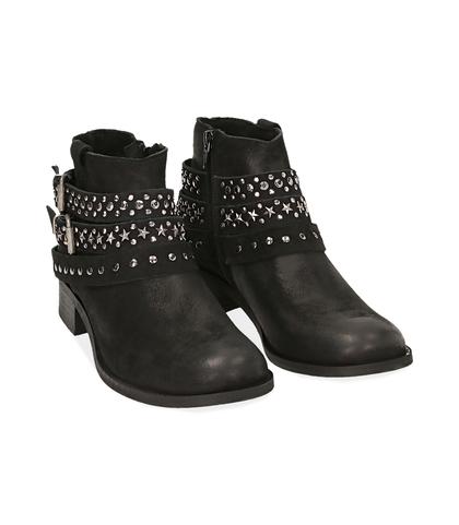 Ankle boots neri in nabuk, Valerio 1966, 1056T0035NBNERO035, 002