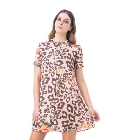 Abito a trapezio cuoio leopard, Abbigliamento, 13T3T2237TSCULEL, 002