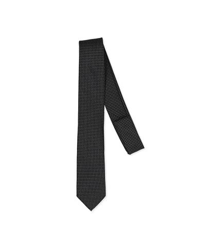 Cravatta nero/grigia in seta , Accessori, 11I9T0018TSNEGRUNI, 001