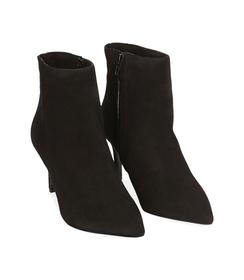 Ankle boots neri in camoscio , Valerio 1966, 12D6T8502CMNERO036, 002 preview