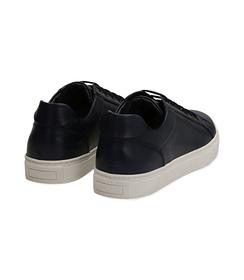 Sneakers blu in pelle con suola bianca, Scarpe, 1195T5735PEBLUE040, 004 preview