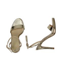 Sandali oro in eco-pelle laminata, 10,50 cm , Valerio 1966, 1521T7401LMOROG037, 003 preview