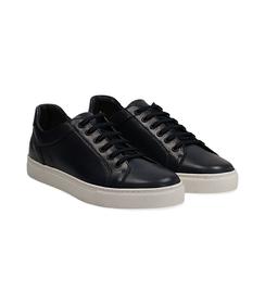 Sneakers blu in pelle con suola bianca, Scarpe, 1195T5735PEBLUE040, 002 preview