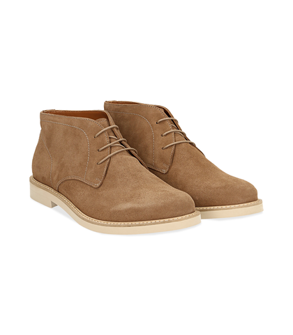 Desert boots taupe in camoscio , Valerio 1966, 1198T5847CMTAUP040, 002