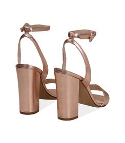 Sandali oro rosa con cinturino alla caviglia, Valerio 1966, 13D6T0703LMRAOR036, 004 preview