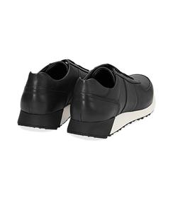 Sneakers nere in pelle con punta affusolata, Scarpe, 1195T5688PENERO040, 004 preview