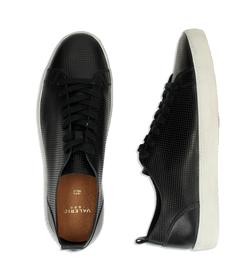 Sneakers nere in pelle con suola bianca, Scarpe, 1377T8082PENERO040, 003 preview