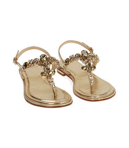 Sandali gioiello oro laminato , Valerio 1966, 1721T1838LMOROG035, 002