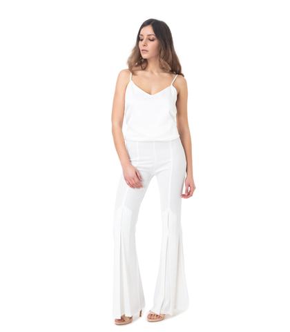 Pantalone flared bianco, Abbigliamento, 11G7T7937TSBIAN40, 001