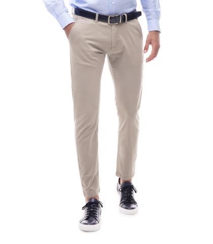 Pantaloni chino beige in cotone, Abbigliamento, 11G5T2071TSBEIG46, 001