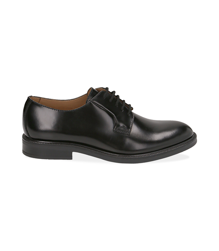 Stringate nere in pelle abrasivataScarpe, 1477T0601APNERO040