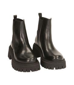 Ankle boots neri in pelle, tacco 5,5 cm , Valerio 1966, 1872T4422PENERO036, 002 preview