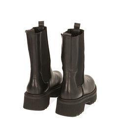 Chelsea boots neri in pelle, tacco 5,5 cm, Valerio 1966, 18L6T4029PENERO035, 004 preview