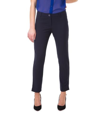 Pantaloni blu slim, con taglio laterale sul fondo, Valerio 1966, 11F8T0203TSBLUE40, 002