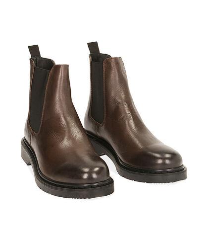 Chelsea boots testa di moro in pelle, Valerio 1966, 1877T6120PEMORO039, 002