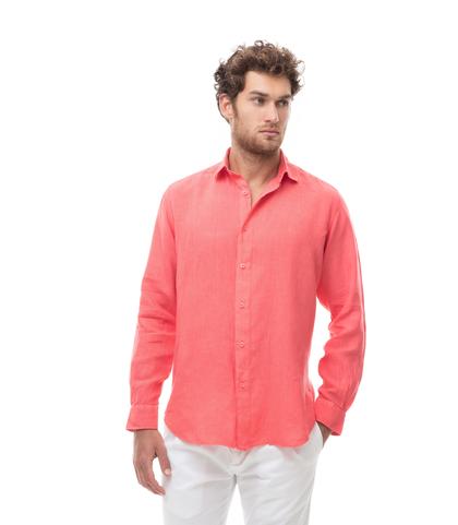 Camicia corallo in lino, Abbigliamento, 13H9T8211TSCORA39, 001