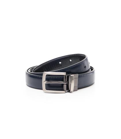 Cintura nero/blu in eco-pelle, Accessori, 1064T6544EPNEBL115, 001