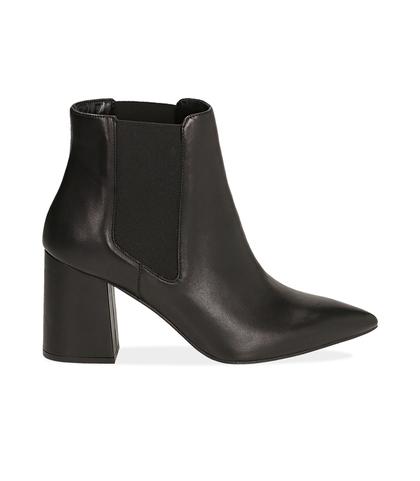 Chelsea boots neri in pelle di vitello , Valerio 1966, 14D6T0611VINERO035, 001