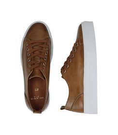 Sneakers cuoio in pelle, Valerio 1966, 1577T0412PECUOI036, 003 preview