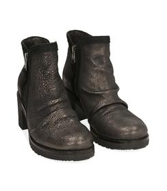 Biker boots oro in laminato , Scarpe, 1056T0039LMOROG036, 002 preview