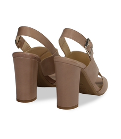 Sandali taupe in pelle , DONNA, 11D6T1063VITAUP036, 004 preview