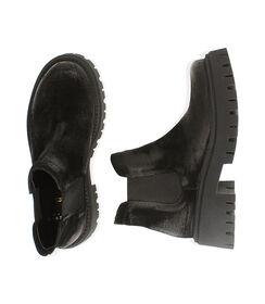 Chelsea boots neri in camoscio, tacco 5,5 cm, Valerio 1966, 1872T4438CMNERO035, 003 preview