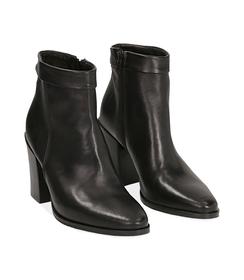 Ankle boots neri in pelle di vitello , Valerio 1966, 1456T0074VINERO036, 002 preview