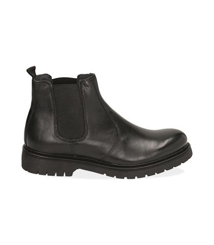 Chelsea boots neri in pelle di vitello , Scarpe, 1277T9908VINERO039, 001