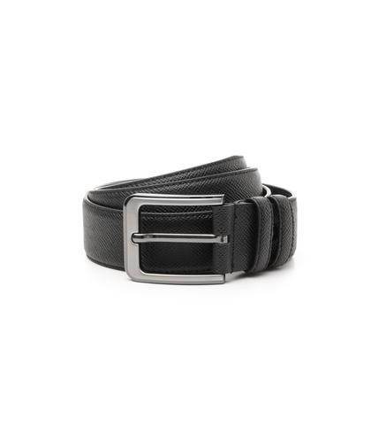 Cintura nera in pelle, Accessori, 10A4T1717PENERO090, 001