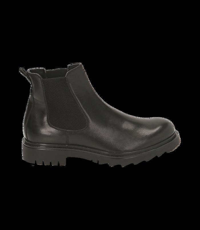 Chelsea boots neri in pelle, Valerio 1966, 1698T7409PENERO040