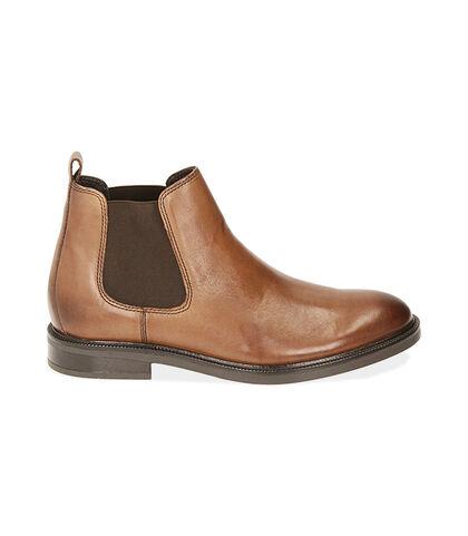 Chelsea boots testa di moro in pelle di vitello, Valerio 1966, 1877T0608VIMORO039, 001