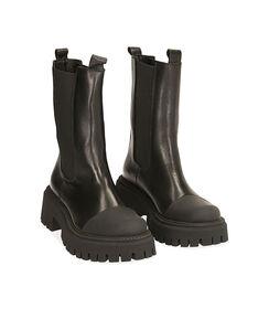 Chelsea boots neri in pelle, tacco 5,5 cm , Valerio 1966, 1872T4477PENERO035, 002 preview