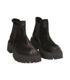 Chelsea boots neri in camoscio, tacco 5,5 cm, Valerio 1966, 1872T4438CMNERO035, 002 preview