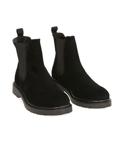 Chelsea boots neri in camoscio, Valerio 1966, 1877T6120CMNERO039, 002