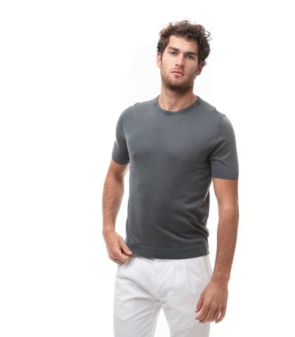 Maglioncino girocollo grigio in cotone, Abbigliamento, 13T4T2353TSGRIG48, 001
